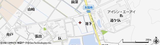 愛知県西尾市吉良町友国周辺の地図