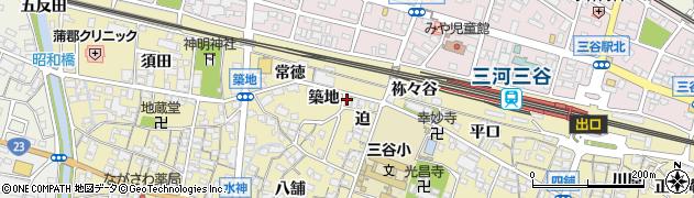 愛知県蒲郡市三谷町(迫)周辺の地図