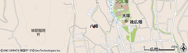 愛知県蒲郡市大塚町(八幡)周辺の地図