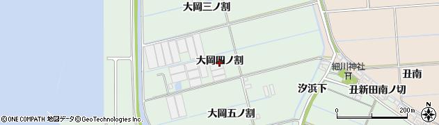 愛知県西尾市一色町細川(大岡四ノ割)周辺の地図
