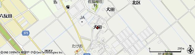 愛知県豊川市御津町上佐脇(犬田)周辺の地図