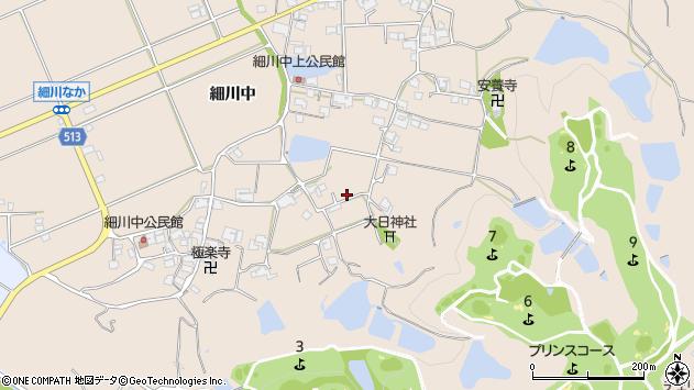 〒673-0714 兵庫県三木市細川町細川中の地図