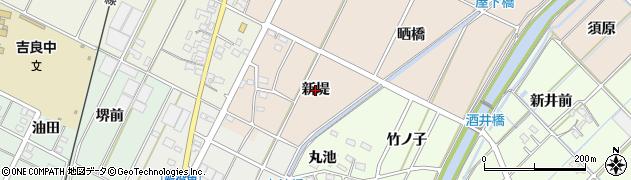 愛知県西尾市吉良町中野(新堤)周辺の地図