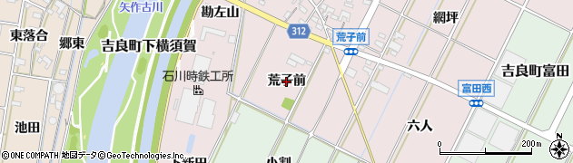 愛知県西尾市吉良町下横須賀(荒子前)周辺の地図