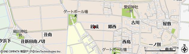 愛知県西尾市一色町治明(銭成)周辺の地図