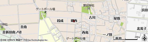 愛知県西尾市一色町養ケ島(郷西)周辺の地図