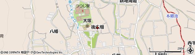 愛知県蒲郡市大塚町(後広畑)周辺の地図
