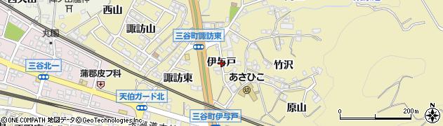 愛知県蒲郡市三谷町(伊与戸)周辺の地図