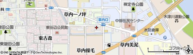 京都府京田辺市草内操毛周辺の地図