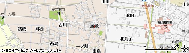 愛知県西尾市一色町治明(屋敷)周辺の地図