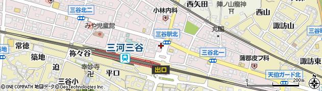 かまどや 三谷店周辺の地図