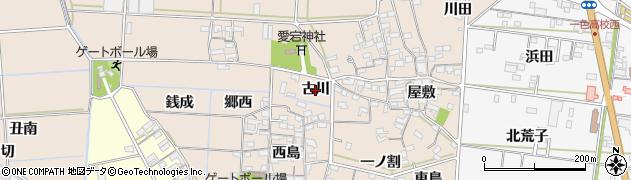愛知県西尾市一色町養ケ島(古川)周辺の地図