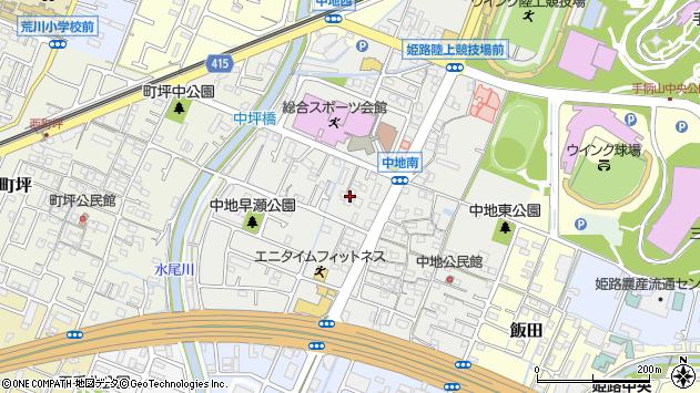 〒670-0976 兵庫県姫路市中地の地図
