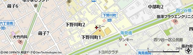 愛知県豊川市下野川町周辺の地図