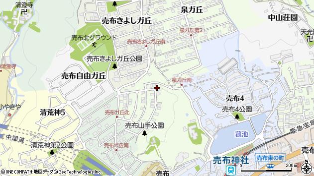 〒665-0854 兵庫県宝塚市売布山手町の地図