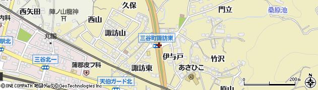 三谷町諏訪東周辺の地図