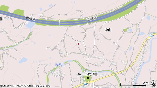 〒651-1611 兵庫県神戸市北区淡河町中山の地図