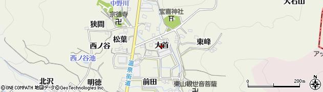 愛知県蒲郡市一色町(大首)周辺の地図