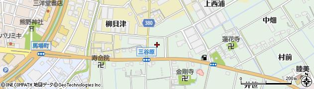 愛知県豊川市三谷原町(北浦)周辺の地図