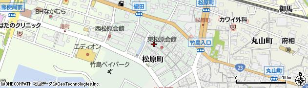愛知県蒲郡市松原町周辺の地図