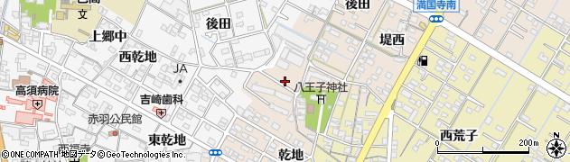 愛知県西尾市一色町味浜(上乾地)周辺の地図