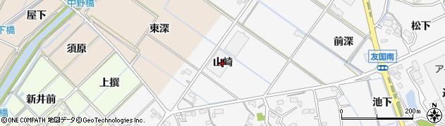 愛知県西尾市吉良町友国(山崎)周辺の地図
