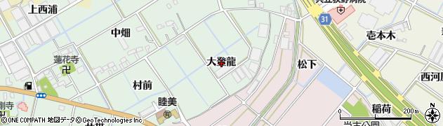 愛知県豊川市三谷原町(大登龍)周辺の地図