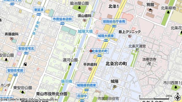 〒670-0949 兵庫県姫路市三左衛門堀東の町の地図
