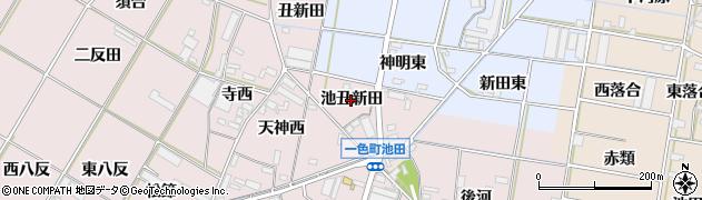 愛知県西尾市一色町池田(池丑新田)周辺の地図