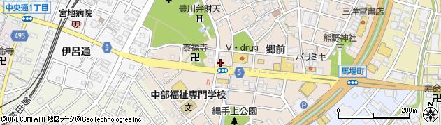 愛知県豊川市馬場町(弁天前)周辺の地図