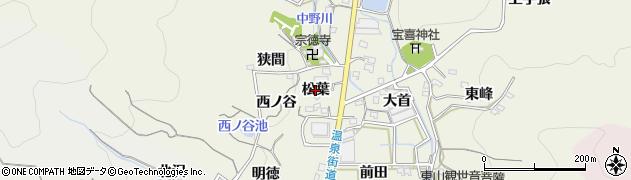 愛知県蒲郡市一色町(松葉)周辺の地図