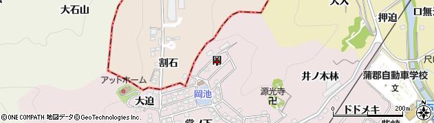 愛知県蒲郡市鹿島町(岡)周辺の地図