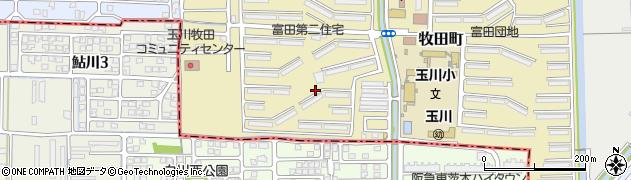 富田第2住宅団地周辺の地図