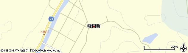 広島県庄原市峰田町周辺の地図