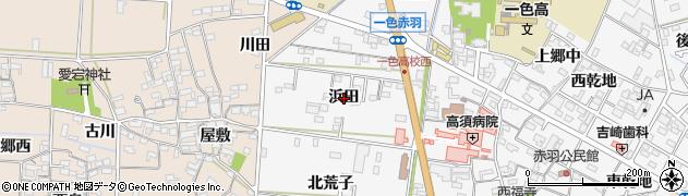 愛知県西尾市一色町赤羽(浜田)周辺の地図
