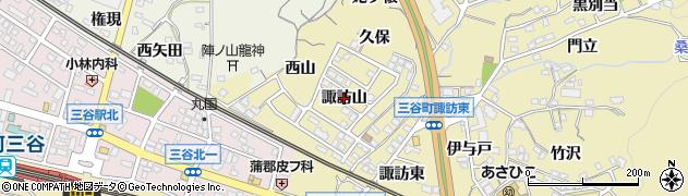 愛知県蒲郡市三谷町(諏訪山)周辺の地図