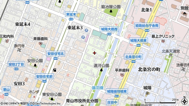 〒670-0940 兵庫県姫路市三左衛門堀西の町の地図