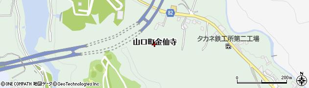 兵庫県西宮市山口町金仙寺周辺の地図
