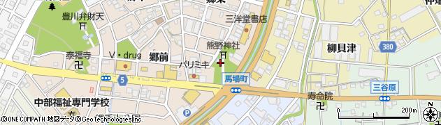愛知県豊川市馬場町(宮脇)周辺の地図