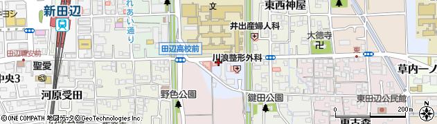 京都府京田辺市河原神谷周辺の地図