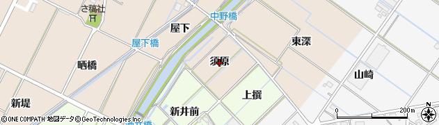 愛知県西尾市吉良町中野(須原)周辺の地図