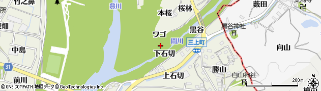 愛知県豊川市三上町(下石切)周辺の地図