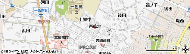 愛知県西尾市一色町赤羽(西乾地)周辺の地図