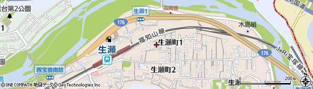 兵庫県西宮市生瀬町周辺の地図