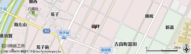 愛知県西尾市吉良町下横須賀(網坪)周辺の地図