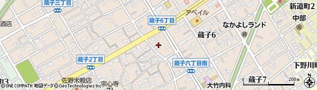 愛知県豊川市蔵子周辺の地図