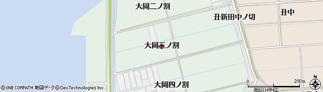愛知県西尾市一色町細川(大岡三ノ割)周辺の地図