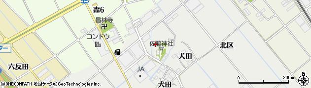 愛知県豊川市御津町上佐脇(深田)周辺の地図