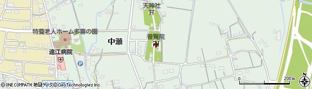 普賢院周辺の地図