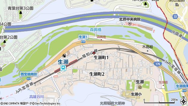 〒669-1102 兵庫県西宮市生瀬町の地図